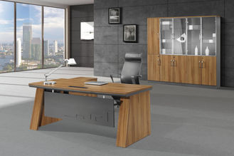 Manajer 160cm Melamin Office Furniture MDF / MFC Finishing Type Tahan Minyak